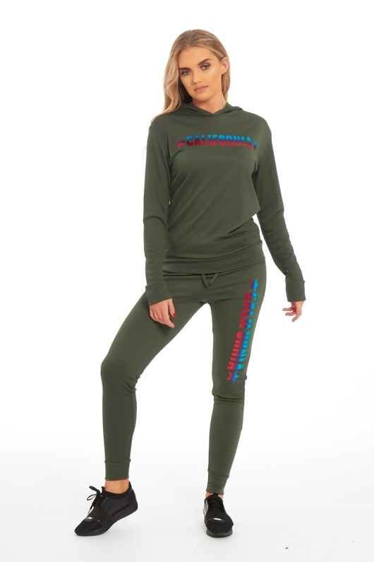 Khaki California Loungewear Set
