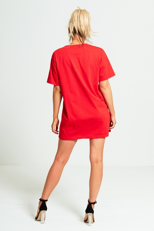 Red If You Cant Say Nothing Say It In French T-shirt Dress