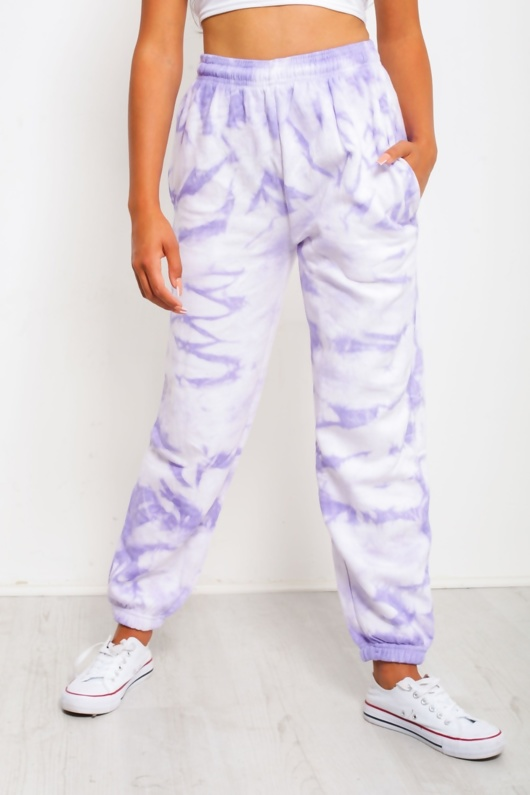 Lilac Tie Dye Casual Joggers