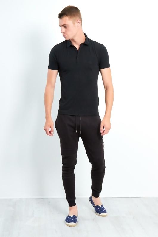 Mens Black Slim Fit Polo Shirt