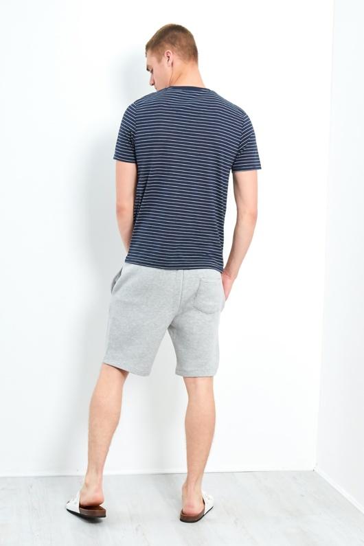 Mens Navy Springs Yarn Dyed Stripe T-shirt
