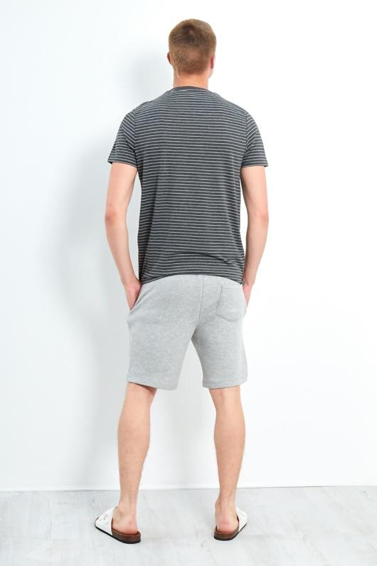 Mens Charcoal Springs Yarn Dyed Stripe T-shirt