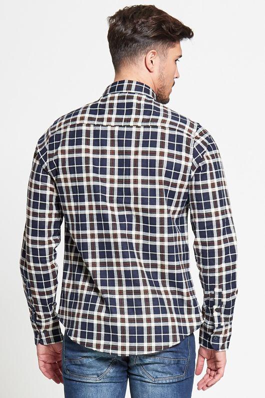 Windowpane Checked Shirt