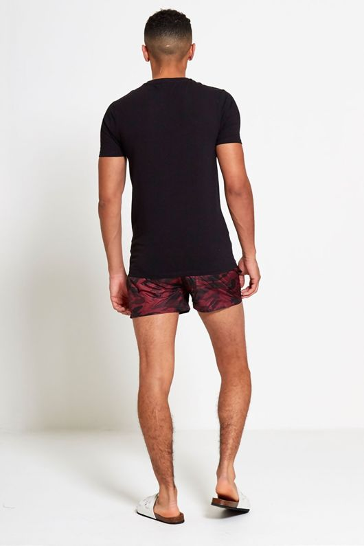Mens Camo Print Swim Shorts
