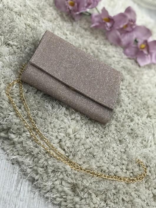 Rose Gold Glitter Cross Body Bag