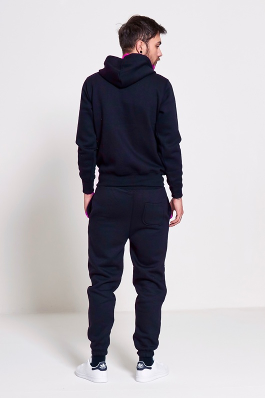 Mens Navy Fleece Jogging Pockets Plain Tracksuit