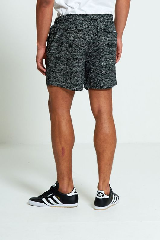 Mens Black And White Spotty Swim Shorts From Brave Soul