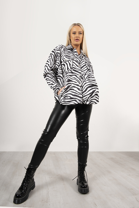Zebra Print Shacket